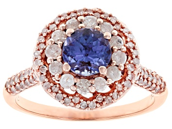 Picture of Blue Tanzanite 14k Rose Gold Ring 1.50ctw