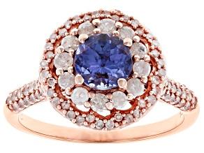 Blue Tanzanite 14k Rose Gold Ring 1.50ctw