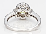 White Fabulite Strontium Titanate And White Zircon Sterling Silver Ring 1.54ctw
