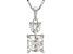 White Fabulite Strontium Titanate silver pendant with chain 3.09ctw