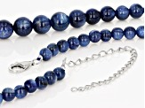 blue kyanite sterling silver necklace