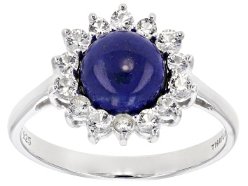 Picture of Blue lapiz lazuli sterling silver ring .46ctw