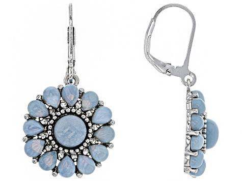 034c977bf Blue Opal Sterling Silver Earrings .20ctw - JUH113 | JTV.com