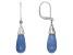 Blue Opal sterling silver dangle earrings