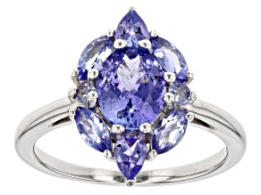 Blue tanzanite sterling silver ring 1.99ctw