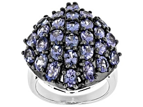 Blue Tanzanite Sterling Silver Ring 3.99ctw