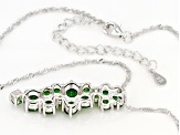 Green Chrome Diopside Rhodium Over Silver Pendant With Chain 2.74ctw