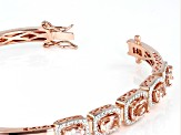 Pink morganite 18k rose gold over silver bracelet 2.33ctw