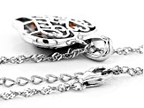 Red Garnet Rhodium Over Silver Heart Pendant with Chain 1.40ctw