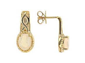 Multi-Colored Ethiopian Opal 18K Yellow Gold Over Sterling Silver Earrings. 1.07ctw