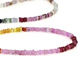 Multicolor sapphire rhodium over sterling silver necklace