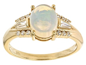 Multi-color Ethiopian Opal 18k Yellow Gold Over Sterling Silver Ring 1.21ctw