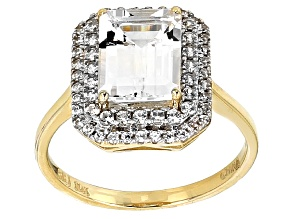 White Danburite 10k Yellow Gold Ring 2.32ctw