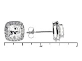 White Danburite 10k White Gold Stud Earrings 1.76ctw