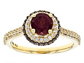 Purple Grape Color Garnet 10k Yellow Gold Ring 1.93ctw