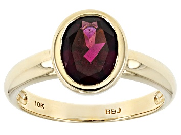 Picture of Grape Color Garnet 10k Yellow Gold Ring 1.70ct