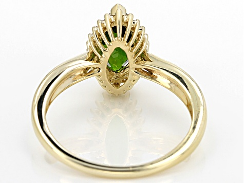 Green Chrome Diopside 10k Yellow Gold Ring 1.19ctw