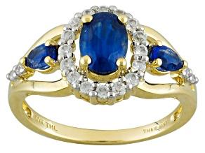 Blue Kyanite 10k Yellow Gold Ring 1.35ctw