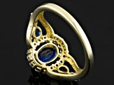 Blue Kyanite 10k Yellow Gold Ring 1.35ctw