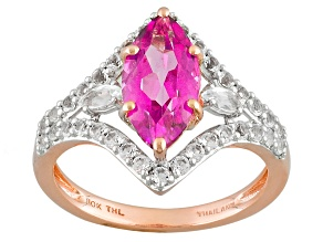 Pure Pink™ Topaz 10k Rose Gold Ring 2.68ctw