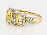 Yellow And White Diamond 14k Yellow Gold Ring 1.00ctw