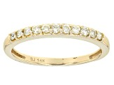 Yellow Diamond 14k Yellow Gold Band .25ctw