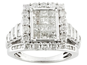 Diamond 10k White Gold Ring 2.00ctw