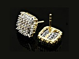 Diamond 10k Yellow Gold Earrings .50ctw