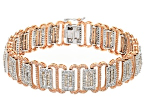 Diamond Two-Tone Gold Bracelet 6.00ctw