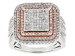 Diamond 10k Two-Tone Gold Ring 1.50ctw
