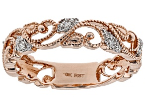 Diamond 10k Rose Gold Ring .11ctw