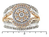 Diamond 10k White And Rose Gold Ring 1.50ctw