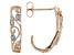 White Diamond 10k Rose Gold Earrings .10ctw