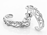 White Diamond 10k White Gold Earrings .10ctw