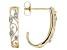 White Diamond 10k Yellow Gold Earrings .10ctw