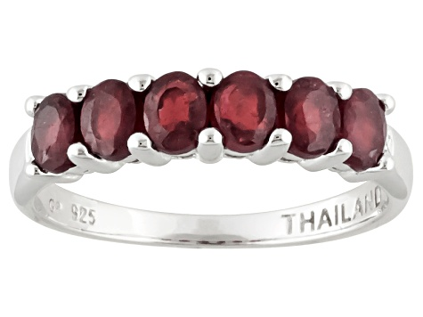 Mahaleo Ruby Sterling Silver Band Ring 127ctw.