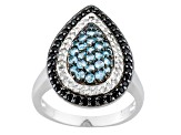Swiss Blue Topaz Sterling Silver Ring 1.30ctw.