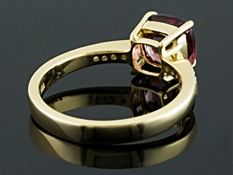 Grape Color Garnet 10k Yellow Gold Ring 1.45ct