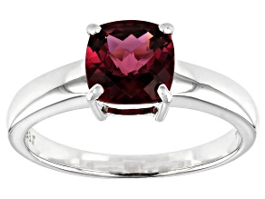 Grape Color Garnet 10k White Gold Ring 1.45ct