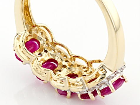 Red Burmese Ruby 14k Yellow Gold Ring 1.69ctw