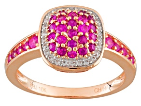 Pink Sapphire 10k Rose Gold Ring .92ctw