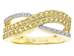 Yellow Sapphire 10k Yellow Gold Ring .77ctw