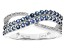 Blue Sapphire 10k White Gold Ring .68ctw