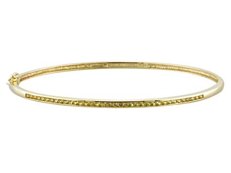 Yellow Shire 10k Gold Bangle Bracelet 61ctw