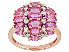 Pink Sapphire 10k Rose Gold Ring 2.95ctw