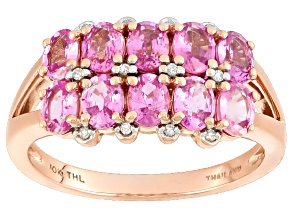 Pink Sapphire 10k Rose Gold Ring 1.79ctw