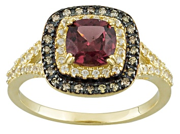 Picture of Grape Color Garnet 10k Yellow Gold Ring 1.76ctw