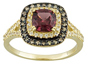 Grape Color Garnet 10k Yellow Gold Ring 1.76ctw