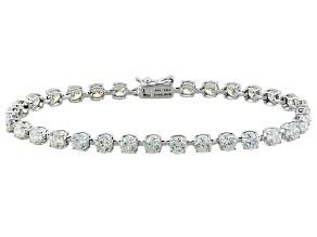 White Fabulite Strontium Titanate 10k White Gold Bracelet 8.28ctw