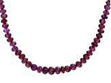 Purple Garnet 14k Yellow Gold Necklace Approximately 90.00ctw